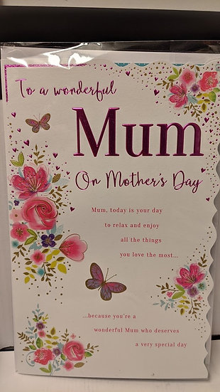 Mum Today Is Your Day - Mother's Day Card