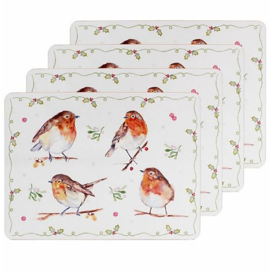 Winter Robin Set of 4 Placemats