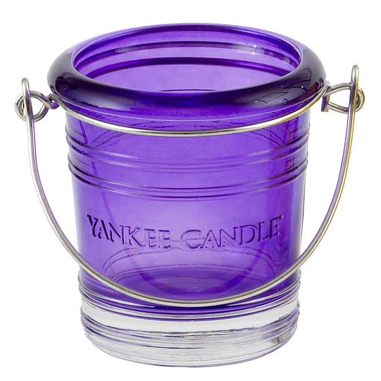 Yankee Candle Purple Glass Votive Bucket