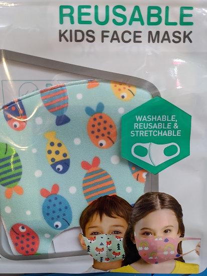 Kids Reusable Face Mask - Fish