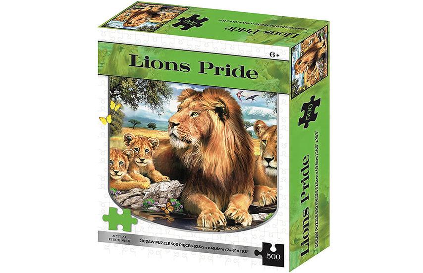 Lions Pride 2D Jigsaw Puzzle (500 Piece)