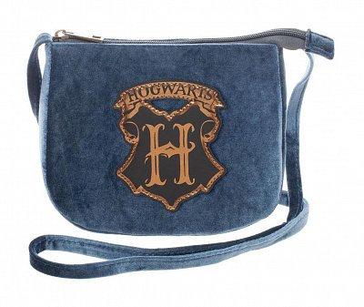 Harry Potter Velvet Crossbody Bag with Hogwarts Crest