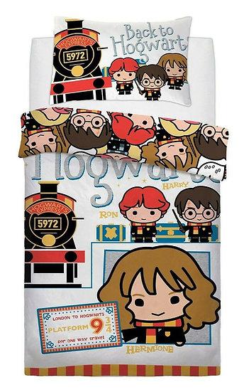 Harry Potter House Ticket To School Single Duvet Cover Set