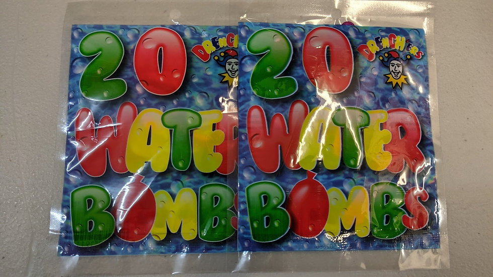 Water Bombs Assorted Neon Colours x 2pks