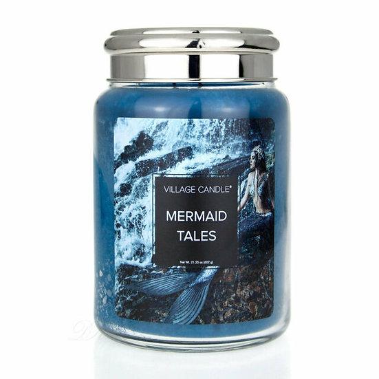 Village Candle Mermaid Tales - 26oz Large Candle Jar