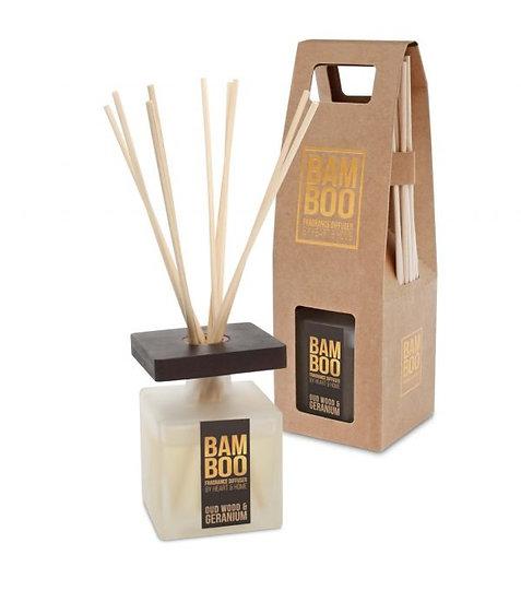 Heart & Home Oudwood & Geranium Bamboo Fragrance Diffuser