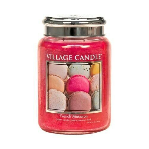 Village Candle French Macaroon - 26oz Large Candle Jar