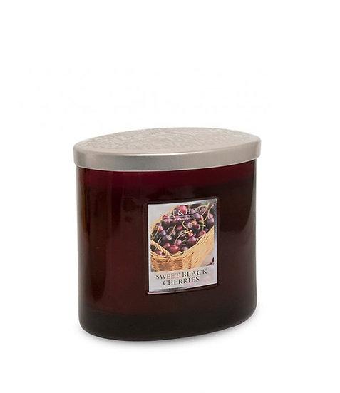 Heart & Home Sweet Black Cherries - 2 Wick Ellipse Candle