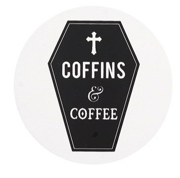 Coffins & Coffee - Black Magic Coaster