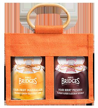 Mrs Bridges Four Fruit Twin Jute Gift Set