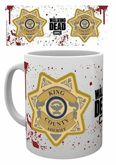 The Walking Dead Sheriffs Badge Mug