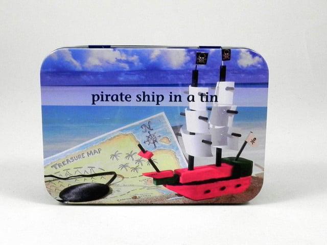 Pirate Ship In A Tin - Gift In A Tin