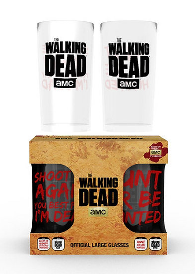 The Walking Dead Twin Pack Large Glasses