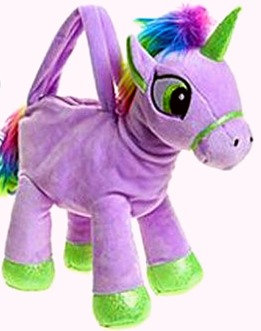 Unicorn Plush Handbag - Purple