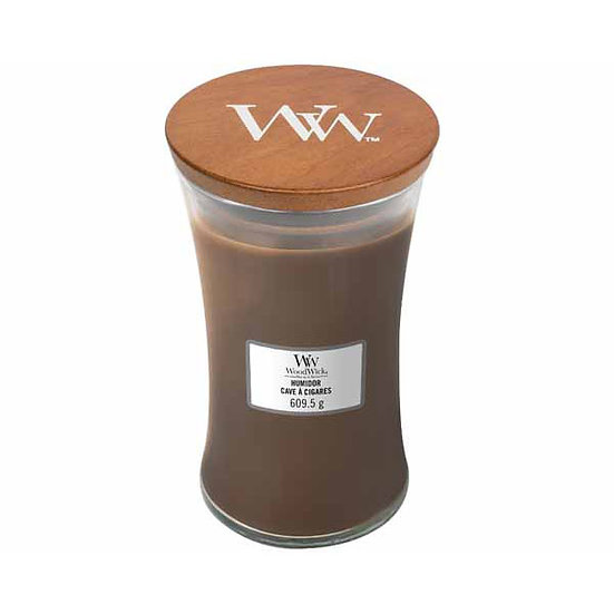 WoodWick Humidor Large Hourglass Candle with Pluswick