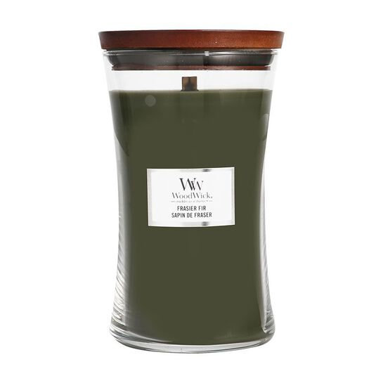 WoodWick Frasier Fir Large Hourglass Candle with Pluswick