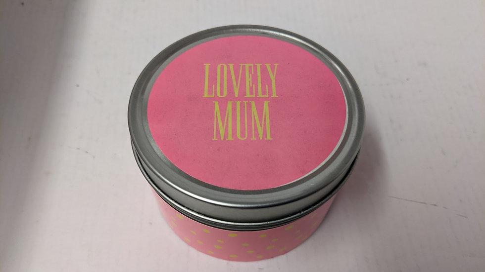 Lovely Mum Tin Candle