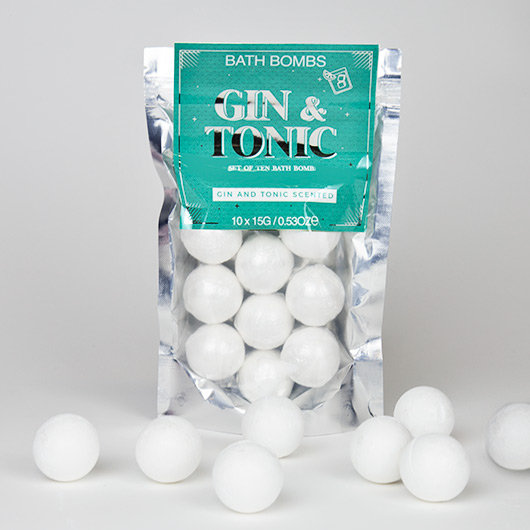 Gin & Tonic Scented Bath Bombs 10 Pack