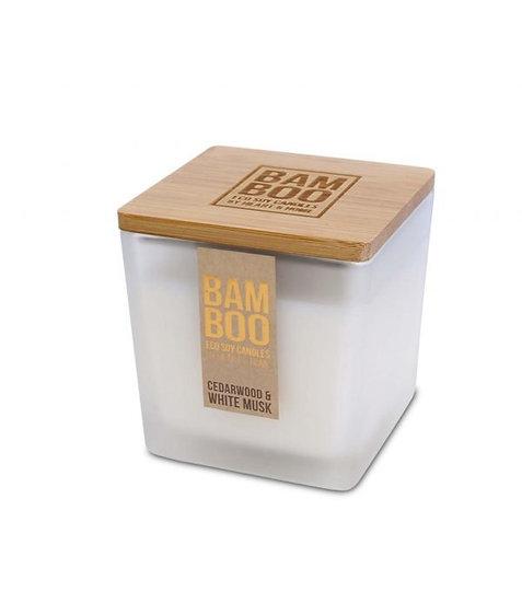 Heart & Home Cedarwood & White Musk Bamboo Large Jar Candle 210g
