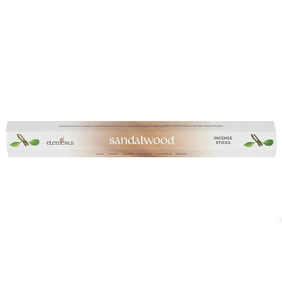 Elements Sandalwood Incense Sticks 20pk