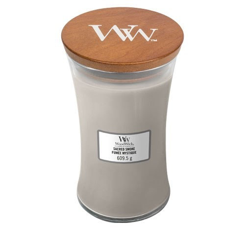 WoodWick Sacred Smoke Large Hourglass Candle with Pluswick