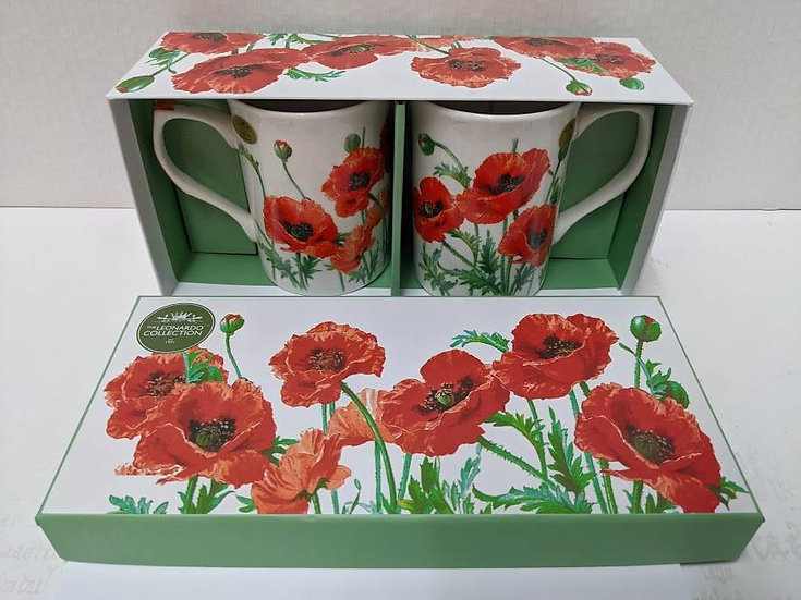Poppy Set of 2 Mugs