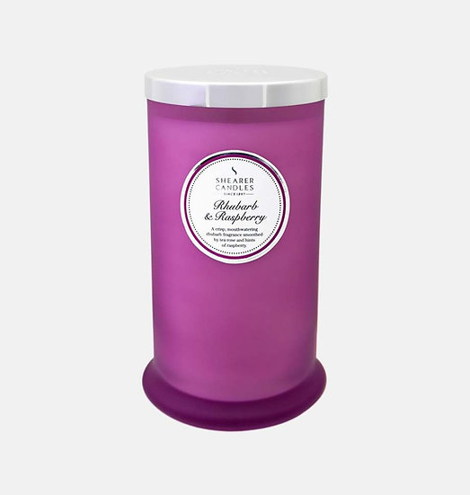 Shearer Candle Rhubarb & Raspberry Pillar Jar - Couture Collection