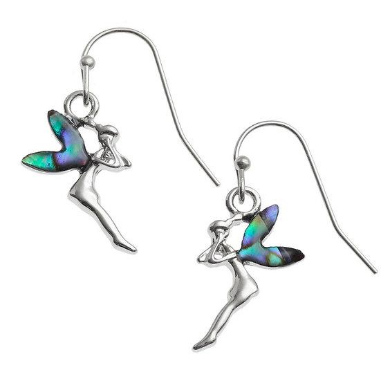 Paua Shell Fairy Earrings