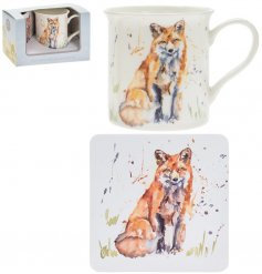 Country Life Fox Mug & Coaster Set