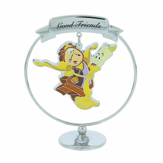 Disney Beauty & The Beast Lumiere & Cogsworth Freestanding Pendant Ornament