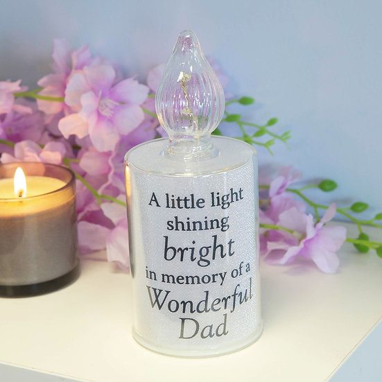 Thoughts Of You Memorial Candle LED Light - Dad