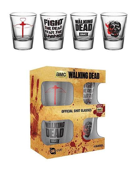 The Walking Dead Symbols Shot Glass Set