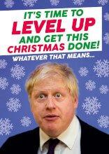 Boris Johnson Level Up Funny Christmas Card