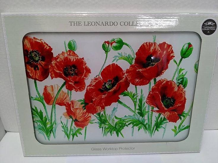 Poppy Glass Worktop Protector