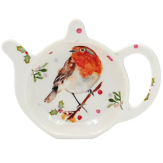 Winter Robin Teabag Tidy