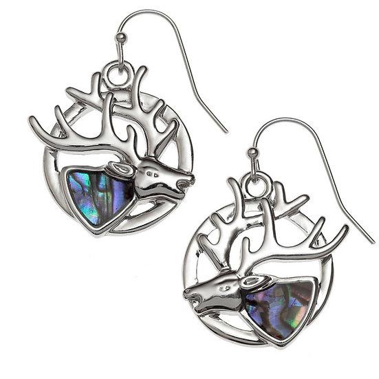 Paua Shell Stag Earrings