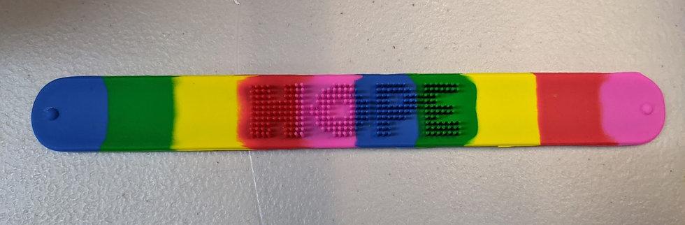 Rainbow Snap Bracelet Bands - Hope