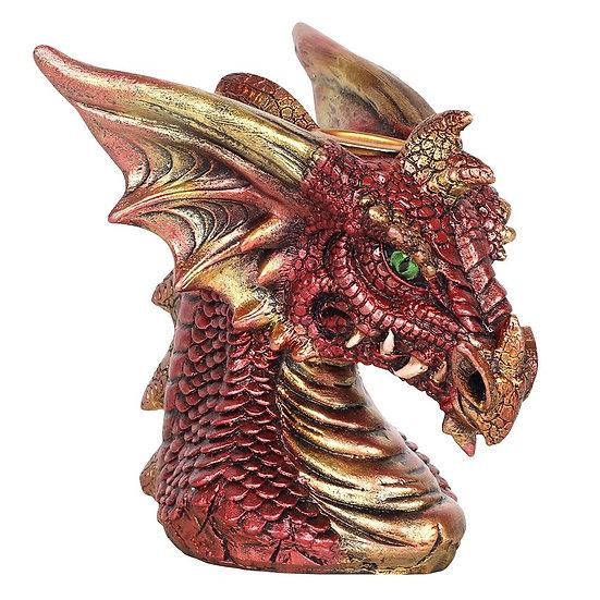 Small Red Dragon Head Backflow Incense Burner