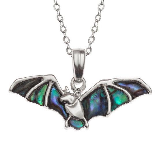 Paua Shell Bat Pendant