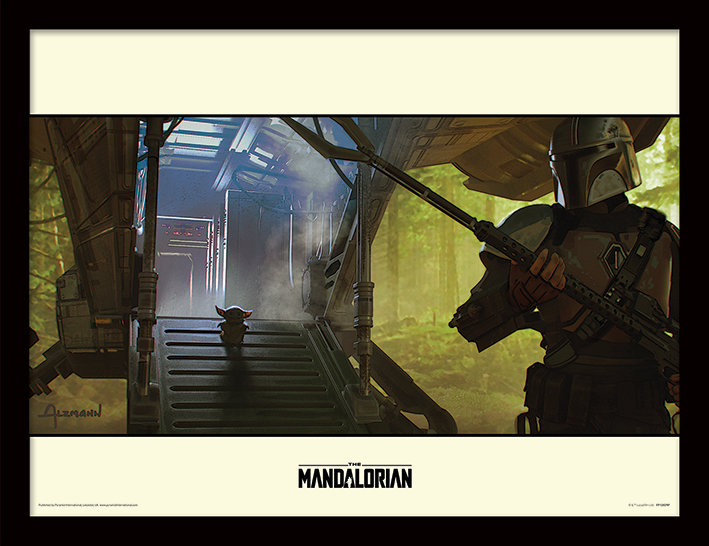 Star Wars The Mandalorian Explore - Framed Print  - CLICK & COLLECT ONLY