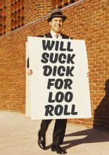Will Suck Dick For Loo Roll Greeting Card