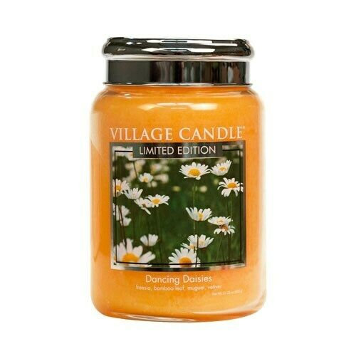 Village Candle Dancing Daisies - 26oz Large Candle Jar