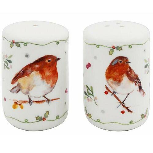 Winter Robins Salt & Pepper Set