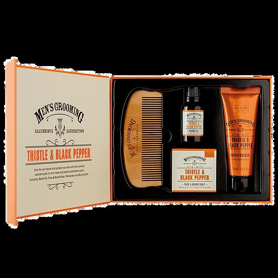 Thistle & Black Pepper Face & Beard Care Kit