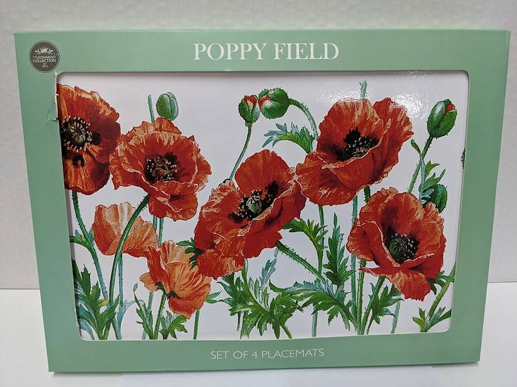 Poppy Set of 4 Placemats