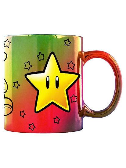 Super Mario Star Power Metallic Mug