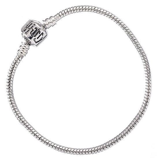 Harry Potter Silver Plated Bracelet for Slider Charms 17cm