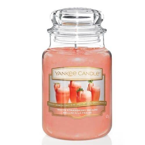 Yankee Candle White Strawberry Bellini - Large Candle Jar 623g