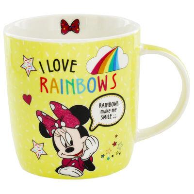 Disney Minnie Mouse Yellow Rainbow Mug