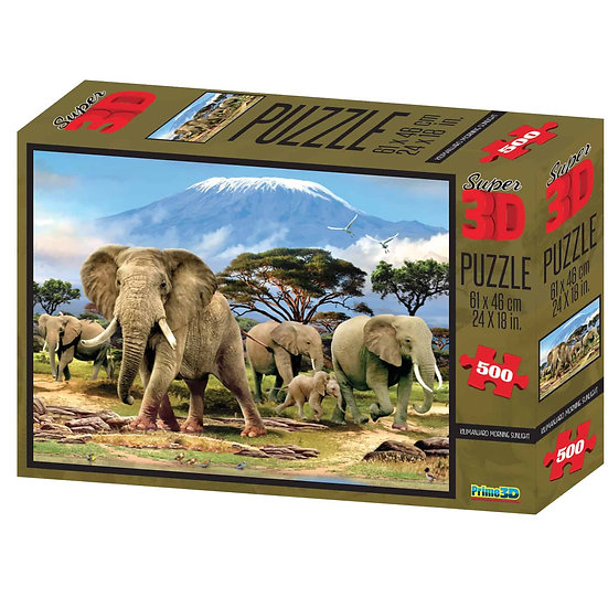 Kilimanjaro Morning Sunlight Super 3D Puzzles (500 Pieces)